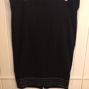 Torrid studded black pencil midi skirt size 2X